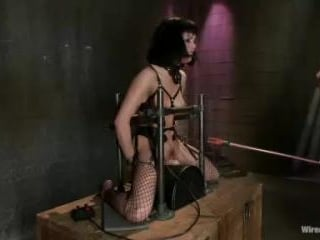 Beautiful Fetish Model Tied up and Dominated by Is