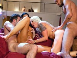 India Summer Has an Interracial Foursome with Lore