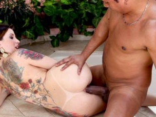This tattooed slut wants Ed\'s cock in her butt