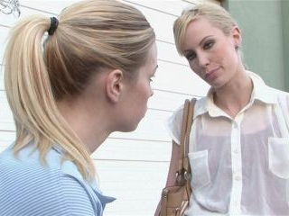 Kiara Diane and Tara Lynn Foxx get naughty in publ
