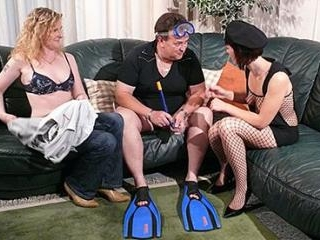 Teen German Redhead helps mature couple