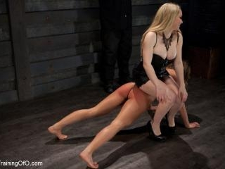 Lesbian Slave Training Ariel XFeatured Trainer-Aid