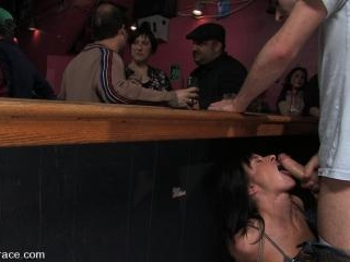 Cecilia Vega is bound, fucked and used by a bar fu