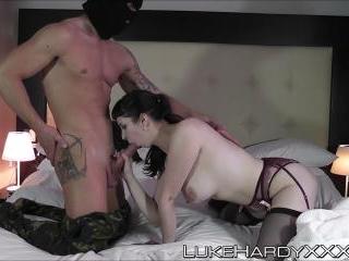 Slutty Elita enjoying her anal creampie