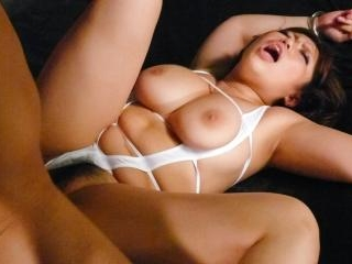 Neiro Suzuka takes two cocks in her mouth, pussy a