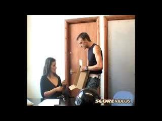Georgina in Hot Secretary Accepts Special Deliver