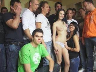 CZECH GANGBANG ORGY - Too many cocks for one prett