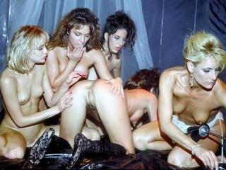 Steamy lesbian orgy