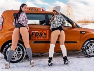 Stuck Between Snow and Big Tits