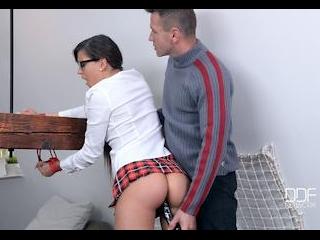 Leaking Roof: Submissive Schoolgirl Gets Her Ass C