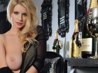 Jessica Davies in sexy black bodysuit