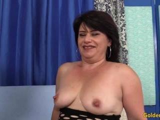 Horny Granny Jenna Jingles Takes a Stiff Cock in H
