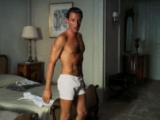 Roy Scheider does push-ups in his boxers then show