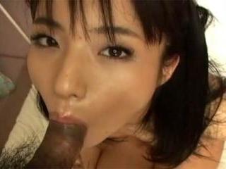 Hot Asian girl goes down on man\'s dick before gett