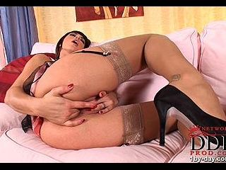 Hot action of desirable young babe