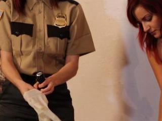 Phoenix Askani and Odile with handcuffs