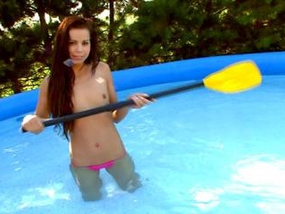 Masturbation by the Pool