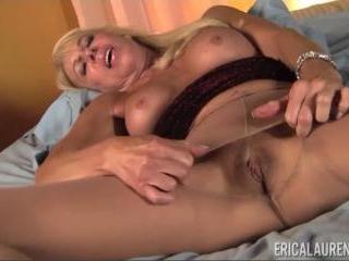 Pantyhose Masturbation With MILF Erica Lauren