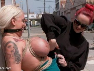 Busty Blonde Candela X Submits In Biker Bar - Kink