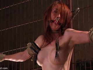 Hot Redheaded Prisoner Made to endure multiple org