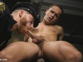 Officer Keys torments sexy cock convict