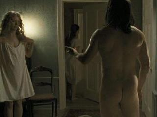 Jason shows butt as he drills a lady.