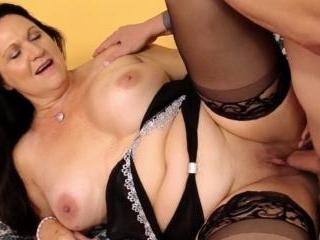 Mature Brunette Leylani Wood Rubs Her Pussy and Fu