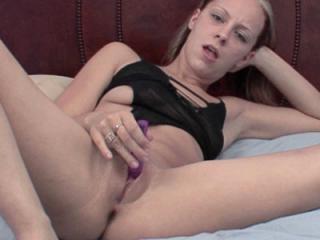 Horny hottie Penelope Sky bounces on her dildo the