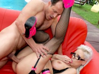 Poolside fuck for a teasing whore