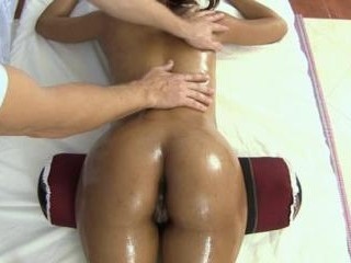 Petite Thai girl visits a massage shop with male m