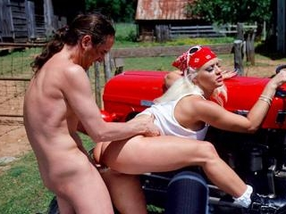 Banged over the tractor
