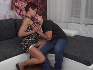 Heavily pierced mature slut fucked by her toy boy