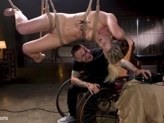 Girl Next Door Kate Kennedy Tied in Rope Bondage a