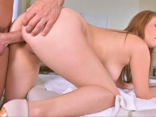 Cum All Over: Russian Masseuse\'s Shaved Pussy Pene