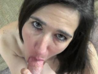 Brunette housewife Deliah Dukes auditions for porn