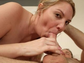 Kiki Daire worships the cock and balls, showing he