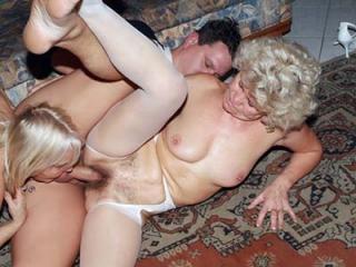 Matures Francesca and Erlene Sharing a Cock