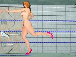 Totally mind-blowing 3d orgy in a gym