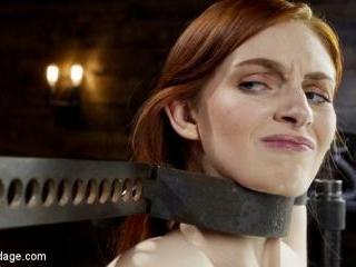Red Head Slut Gets Destroyed in Diabolical Bondage