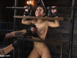 Petite Slut Serena Blair Punished and Made to Cum