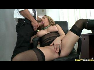 Kat gets her big natural tits fucked by Jmac