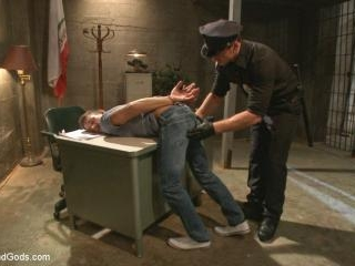 Officer Maguire beats and fucks a stud for litteri
