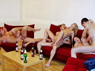 Nasty horny college girl sex party, part 4