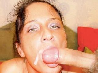 Naturally busty brunette MILF wants his cum