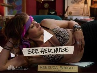 Kate Walsh strips down to her intimates.