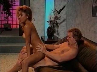 Leena, Asia Carrera, Tom Byron in classic xxx scen