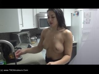 Washing Dishes Topless