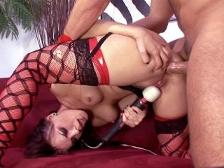 Dana gets her asshole fucked deep & shares his
