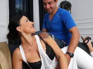 Steamy hot MILF fucking and sucking her ass off
