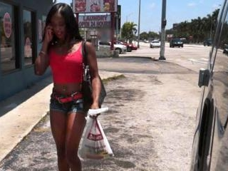 Ghetto Black Girl Gives Up Ass for Cash on BangBus